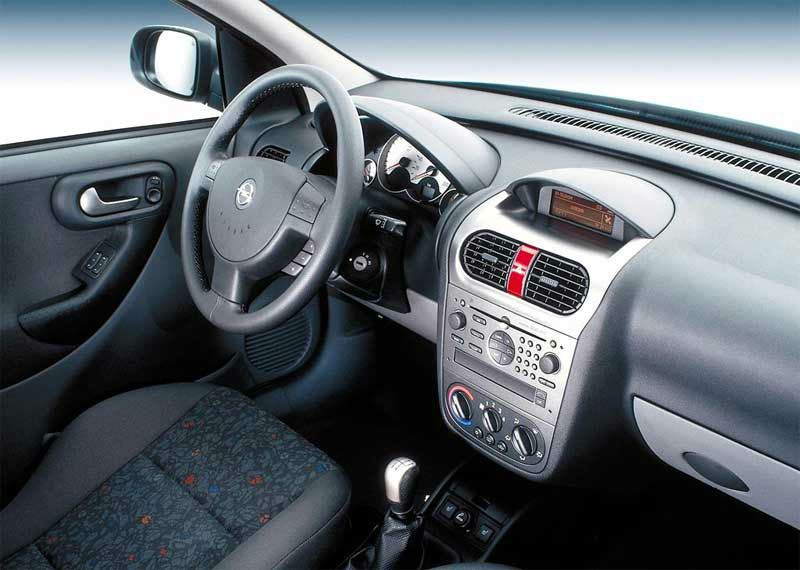 opel corsa 2004 interior images