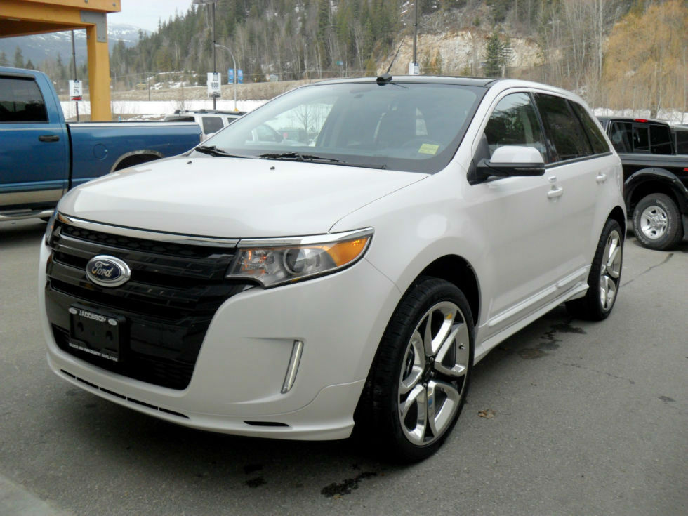 ford edge sport white 2014 the image kid has it. Black Bedroom Furniture Sets. Home Design Ideas