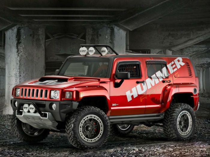 2017 Hummer H3 (Red)