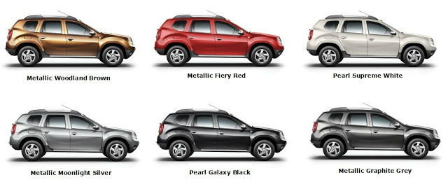 Renault Duster Colours in UAE
