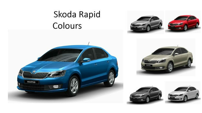 Skoda Rapid 2017 colours