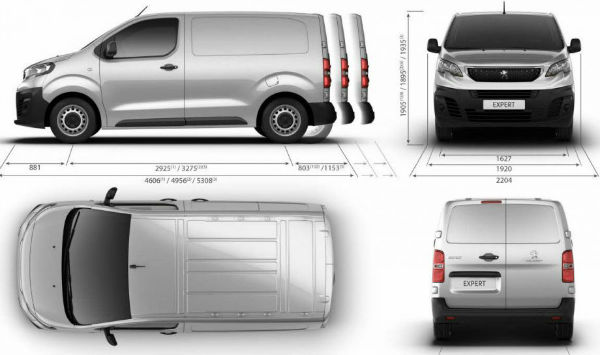 Citroen Jumpy 2017 Dimensions